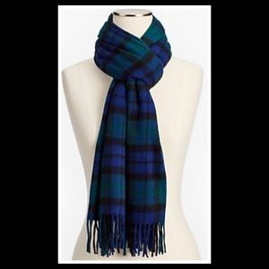 Talbots Cashmere Scarf - Black Watch Plaid